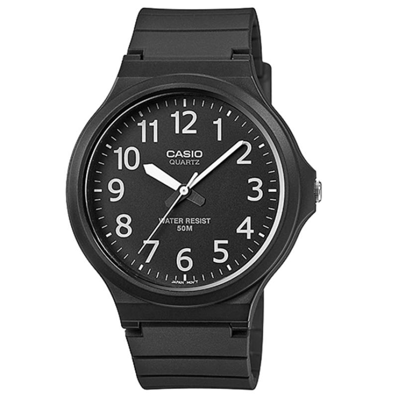 Casio Mens Analogue Watch with Resin Strap - Black (MW240-1BVEF)