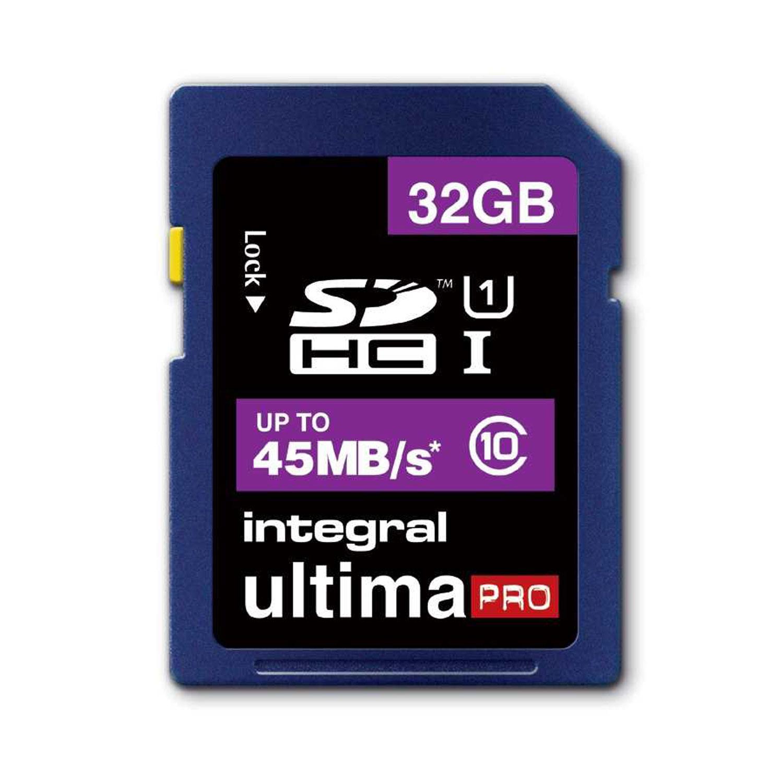 Integral 32GB UltimaPRO SD Card (SDHC) - 45MB/s