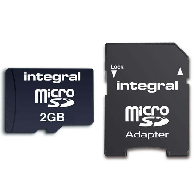 Integral 2GB Micro SD Memory Card + SD Adapter