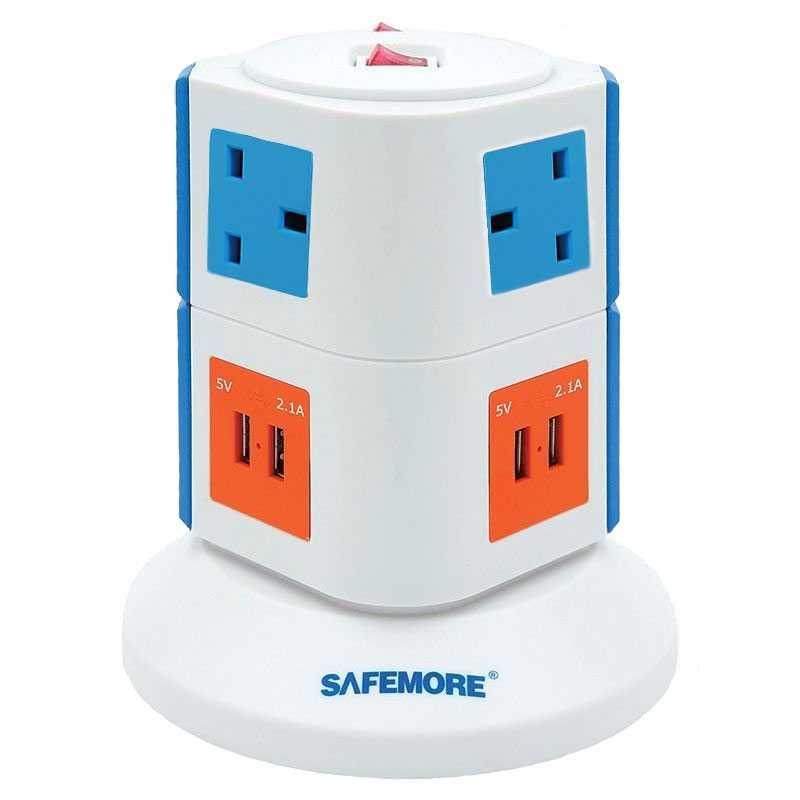 Safemore Vertical Power Stacker Origin Series - Orange/Blue