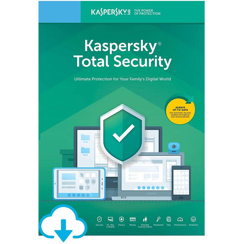 Kaspersky Total Security 2019 (3 Devices, 1 Year)