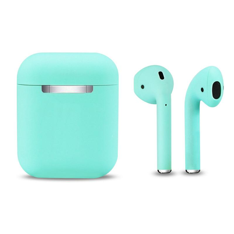 True Wireless In-Ear Stereo Bluetooth 5.0 Earphones with Portable Charging Case - Turquoise