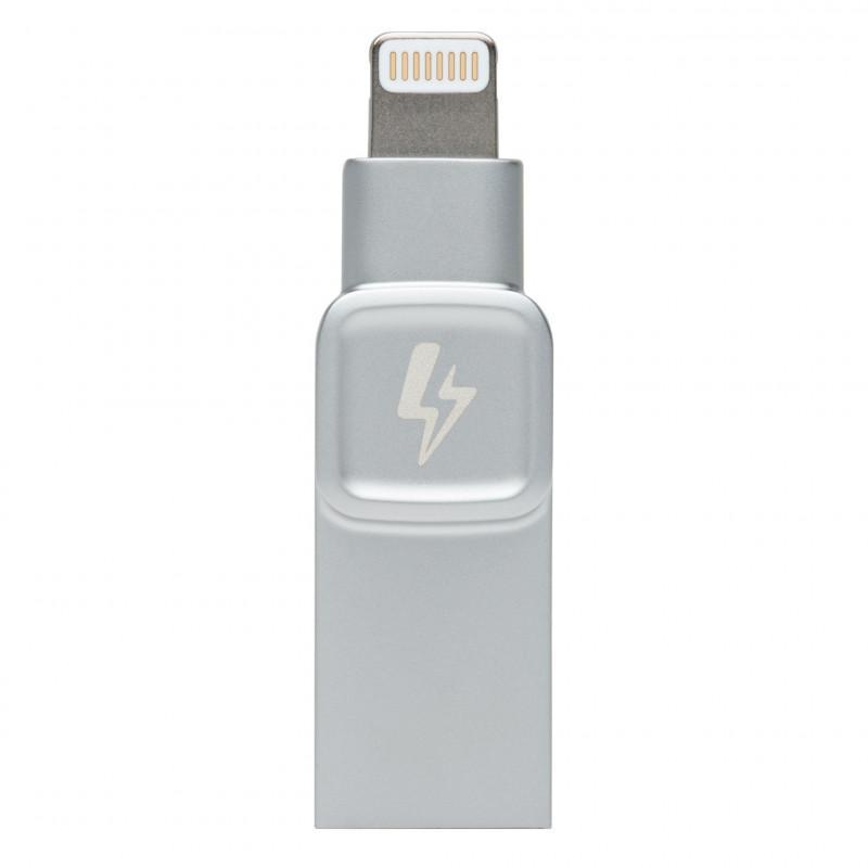 Kingston DataTraveler Bolt Duo 128GB USB 3.1/Lightning 3.0 Flash Drive for iPhones/iPads - Silver
