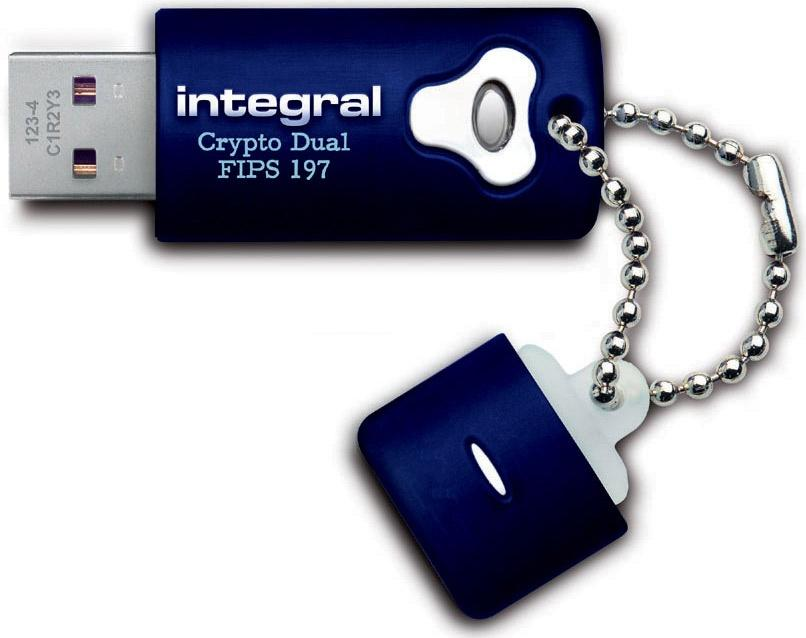 Integral 2GB Crypto Dual Fips 197 256-bit Hardware Encrypted USB Flash Drive
