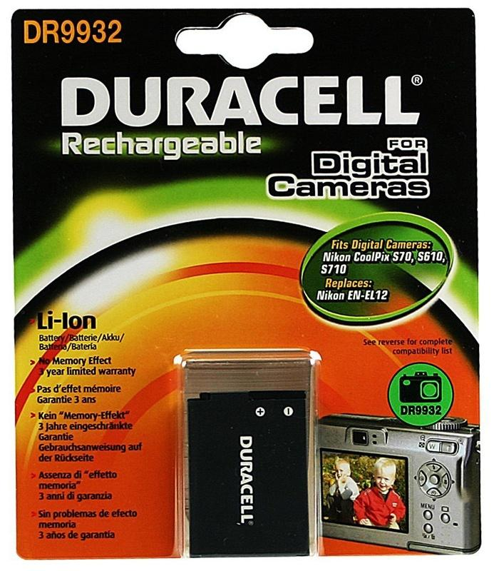 Duracell Nikon EN-EL12 Camera Battery