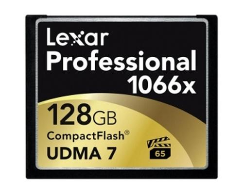 Lexar 128GB 1066X Professional Compact Flash Card - 160MB/s