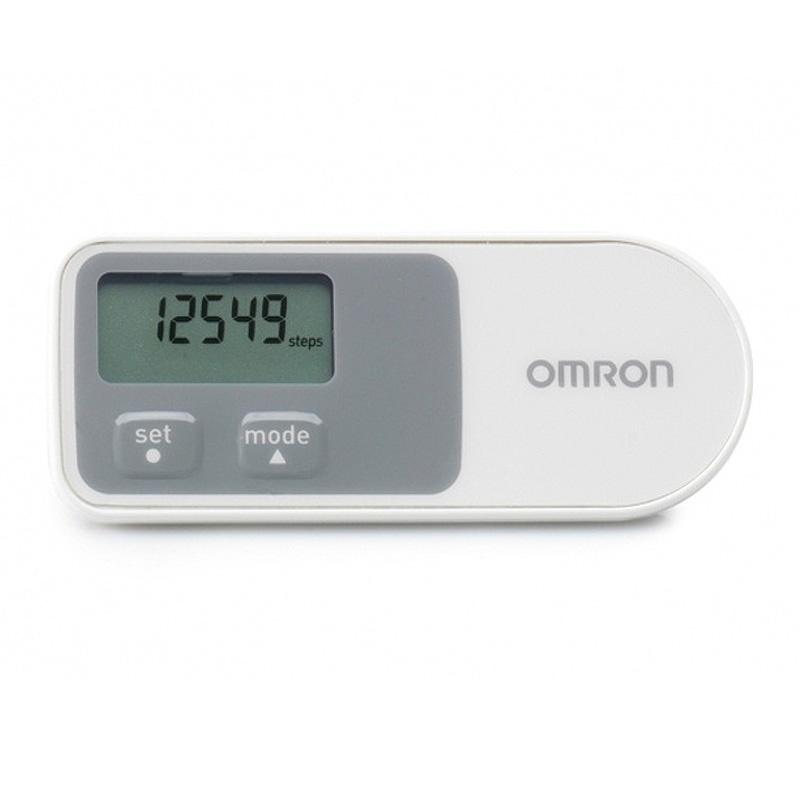 Omron 3D Walking Style Pedometer with Accelerometer Sensor - White