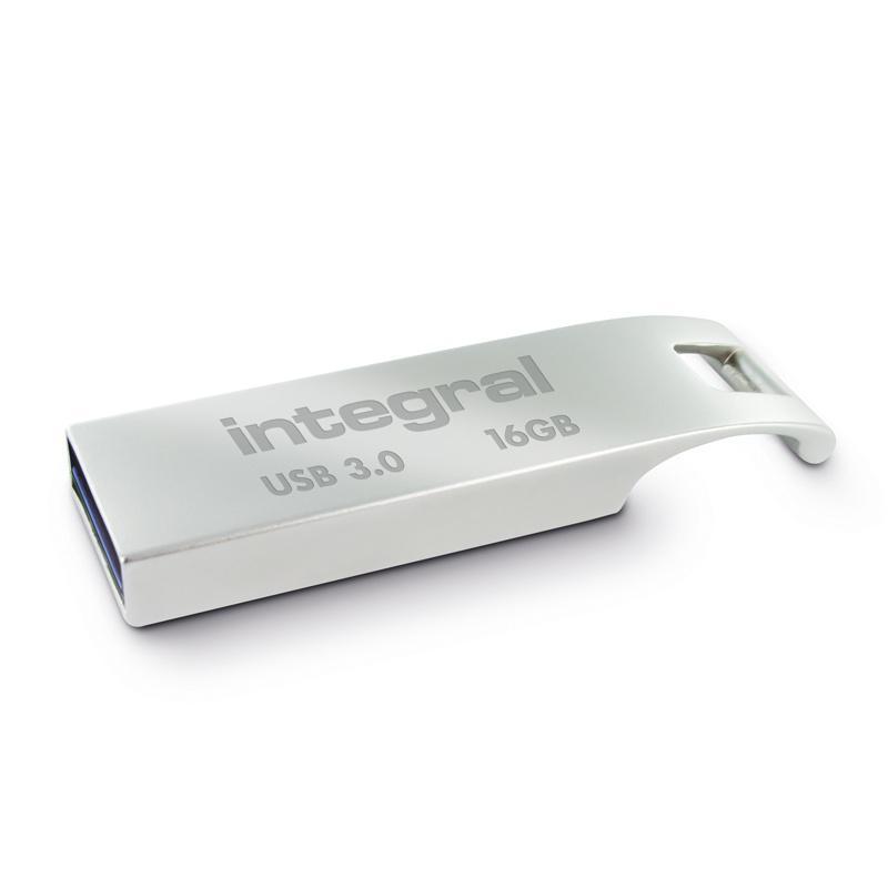 Integral 16GB Metal ARC USB 3.0 Flash Drive - 110Mb/s
