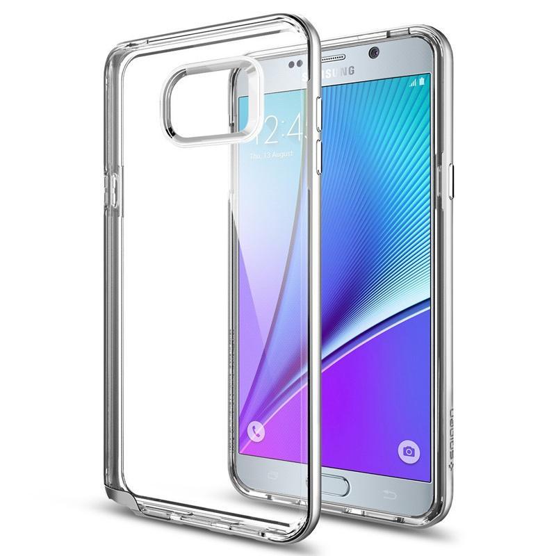 Spigen Neo Hybrid Crystal Samsung Galaxy Note 5 Case - Satin Silver