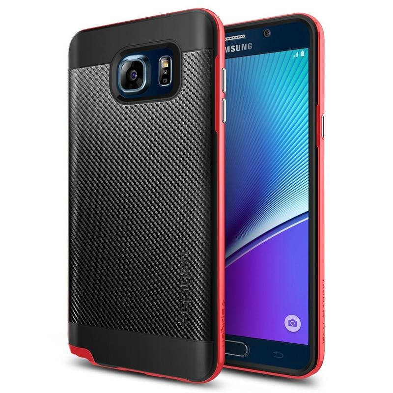 Spigen Samsung Galaxy Note 5 Case Neo Hybrid Carbon - Dante Red