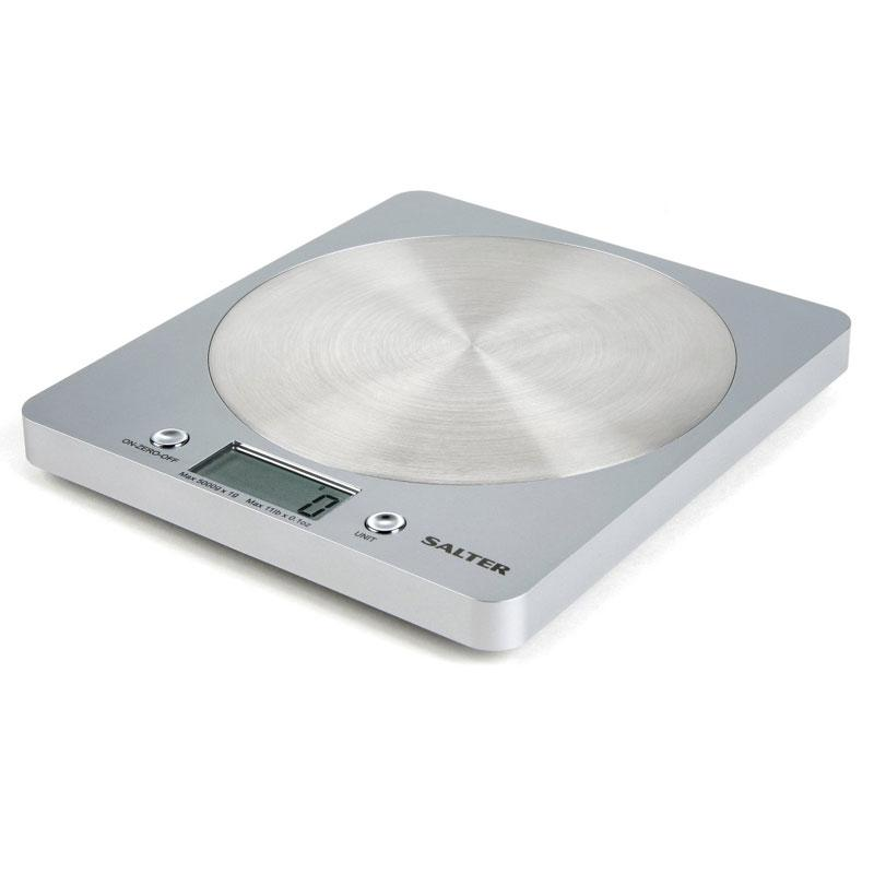 Salter Disc Electronic Kitchen Scale - Silver (1036)