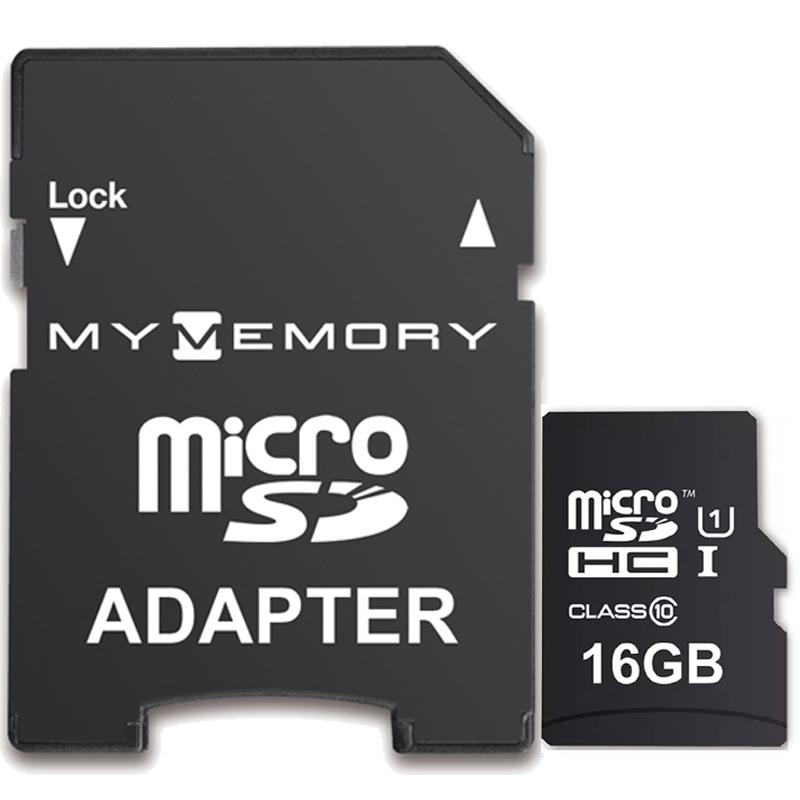 MyMemory 16GB Micro SD Speicherkarte (SDHC) UHS-I U1 + Adapter - 90MB/s