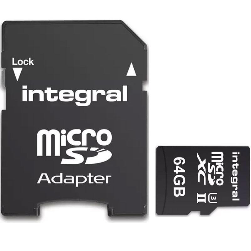 Integral 64GB UltimaPRO-X2 V60 Micro SD Karte (SDXC) UHS-II U3 + Adapter - 280MB/s
