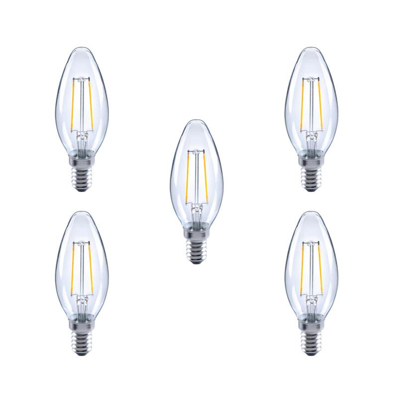 Integral LED Glaskolben E14 2.8W (25W) 2700K Nicht-Dimmbare Lampe - 5er Pack