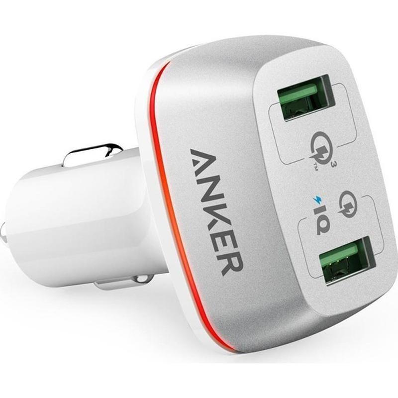 Anker PowerDrive + 2 Port 42W Dual USB-Autoladegerät mit Schnellladung 3.0