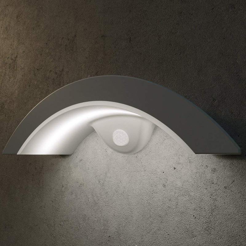 Gewölbte Solar PIR LED Sicherheitsleuchte