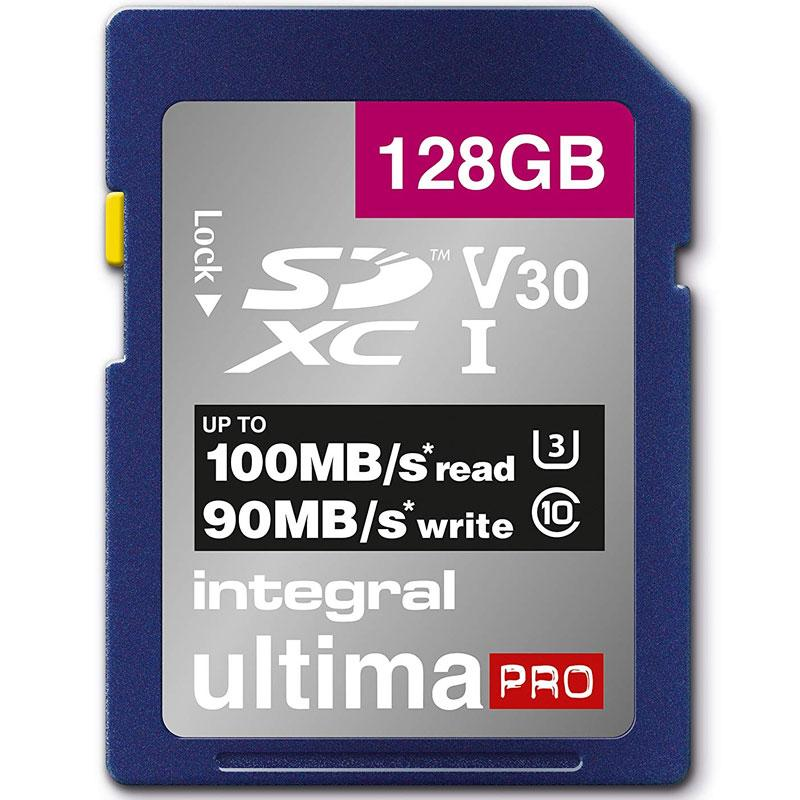 Integral 128GB UltimaPRO V30 Premium SD Karte (SDXC) UHS-I U3 - 100MB/s