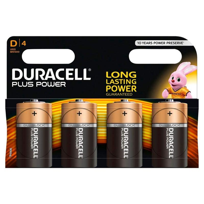 Duracell MN1300 Plus Power D Batterien - 4er Pack