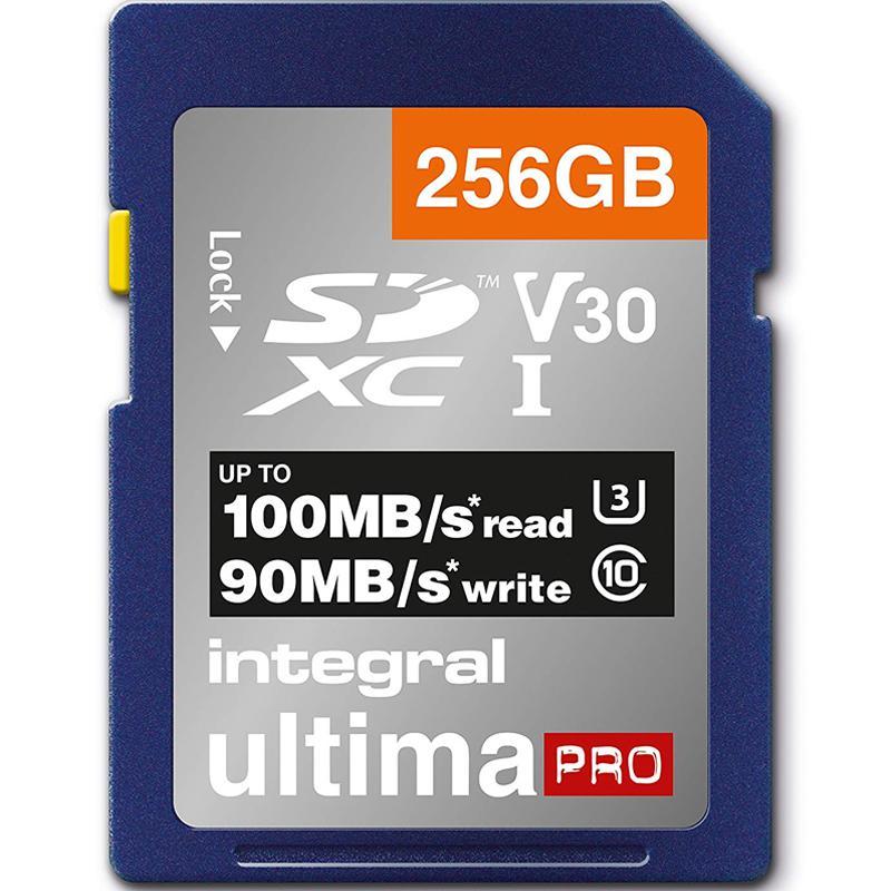 Integral 256GB UltimaPRO V30 Premium SD Karte (SDXC) UHS-I U3 - 100MB/s