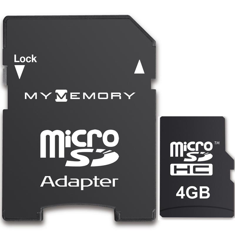 MyMemory 4GB Micro SD Karte (SDHC) + Adapter