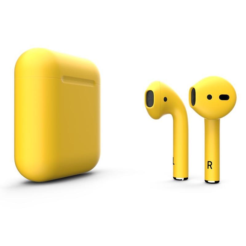 i9s TWS Bluetooth 5.0 Wireless Stereo Kopfhörer mit Mikrofon - Gelb