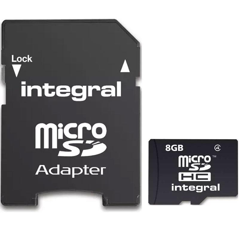 Integral Micro SD (SDHC) Karte - Class 4 (Inkl. Adapter)
