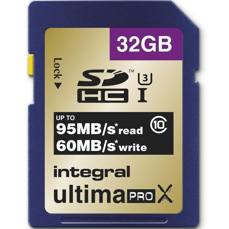 Integral 32GB UltimaPro X SD (SDHC) Class 10 UHS-1 U3 - 95MB/s