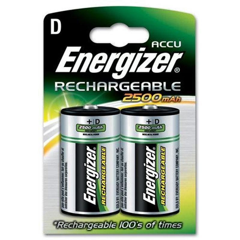 Energizer Akku 2500mAh D Wiederaufladbare Batterien - 2 Stück
