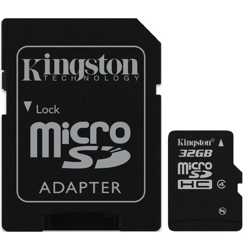 Kingston Micro SD (SDHC) Speicherkarte + SD Adapter - Class 4