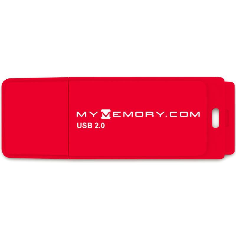 MyMemory 4GB USB Flash Drive - Rot