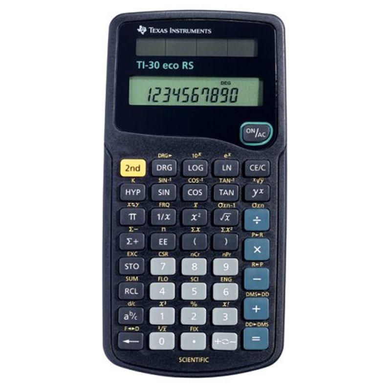 Batteriebetriebener wissenschaftlicher Taschenrechner von Texas Instruments (TI30ECORS