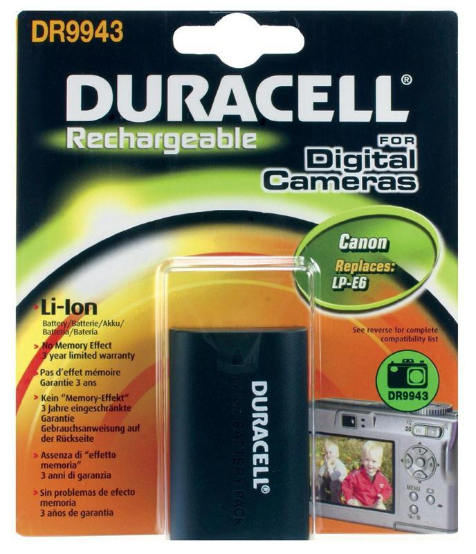 Duracell Digitalkamera Ersatzakku für Canon LP-E6