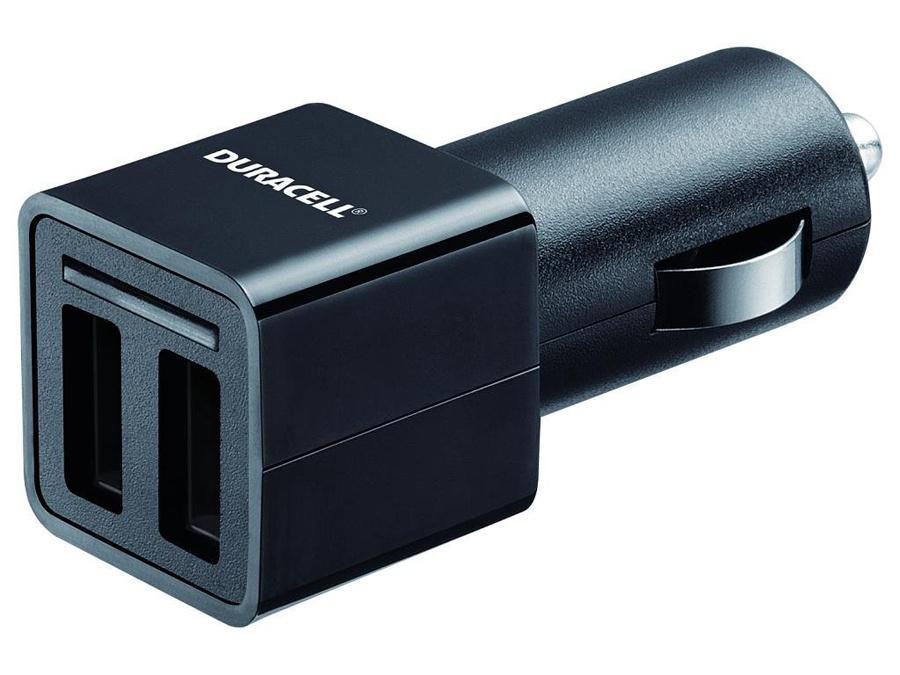 Duracell Dual USB Autoladegerät für Tablet und Smartphone - Schwarz