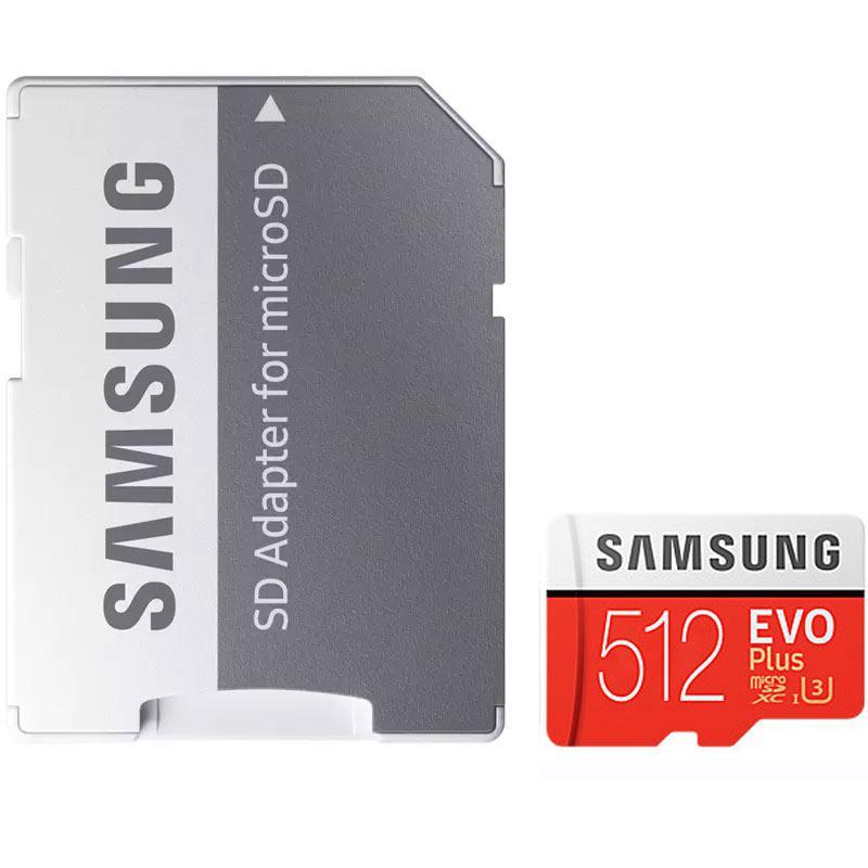 Samsung 512GB Evo Plus Micro SD Card (SDXC) UHS-I U3 + Adapter - 100MB/s
