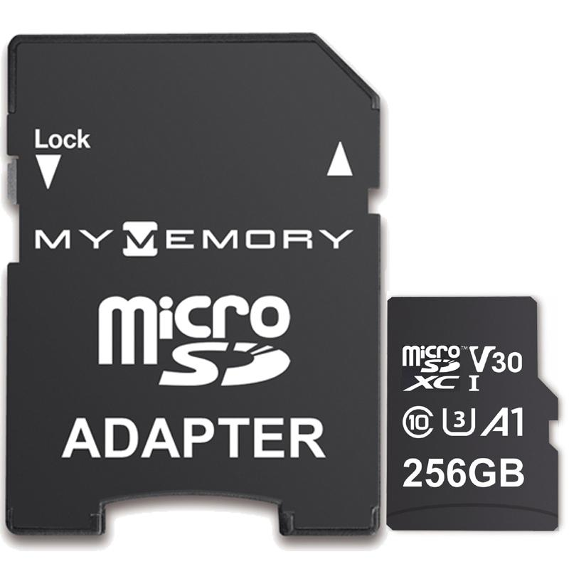 MyMemory 256GB V30 PRO Micro SD (SDXC) A1 UHS-1 U3 + Adapter - 100MB/s