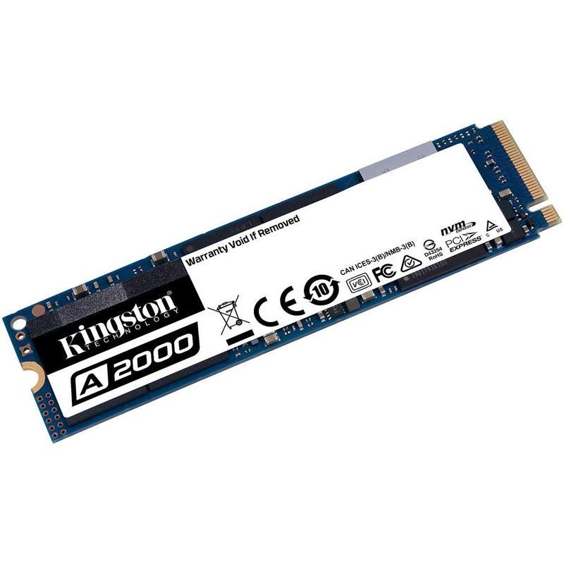 Kingston 250GB A2000 NVMe PCIe M.2 Internal SSD - 2000 MB/s