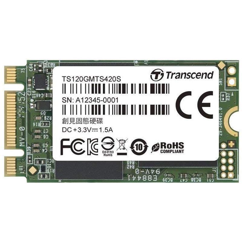 Transcend 120GB 420S M.2 SSD Drive Sata III - 500MB/s
