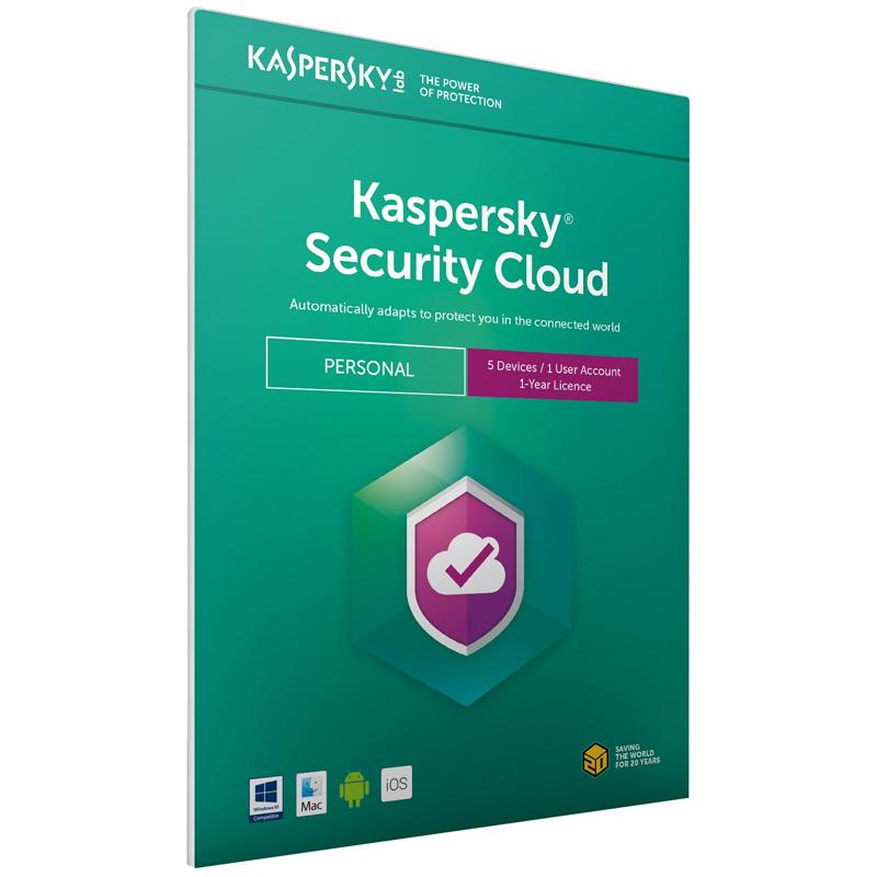 Kaspersky Security Cloud - Personal (5 Devices, 1 Year) FFP