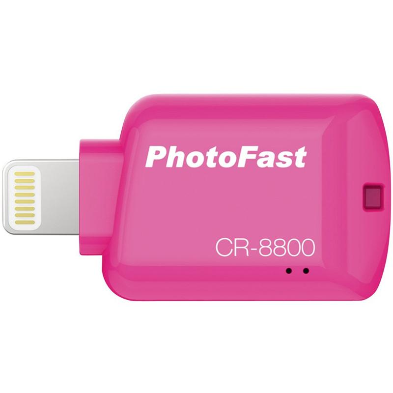 PhotoFast 4K USB 3.1 Apple Lightning to Micro SD Card Reader - Pink