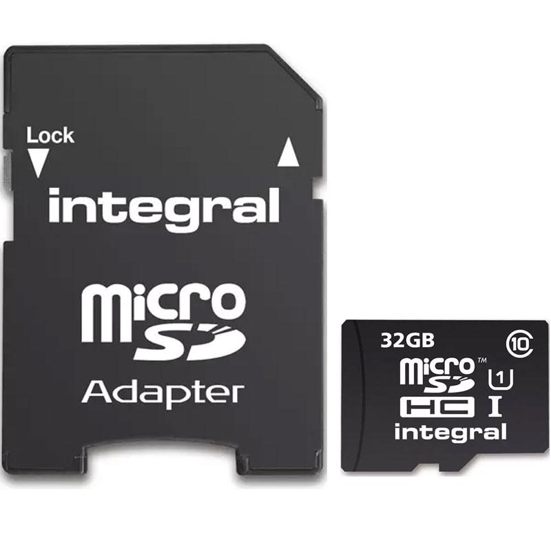 Integral 32GB UltimaPRO Micro SD Card (SDHC) + Adapter - 40MB/s
