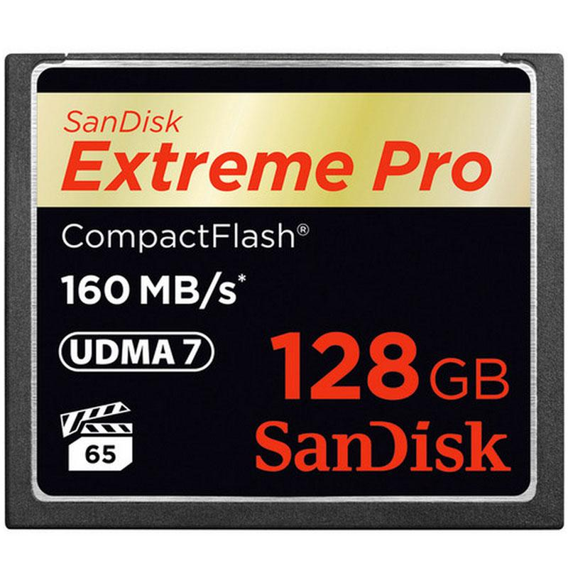 SanDisk 128GB 1067X Extreme PRO Compact Flash Card - 160MB/s
