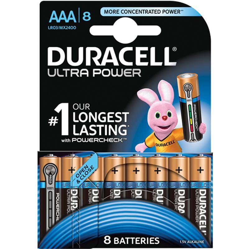 Duracell Ultra 8 x AAA Batteries