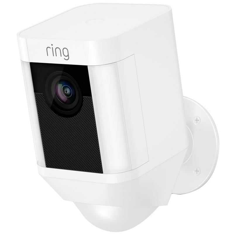 Ring Spotlight Battery Home Security Camera - White