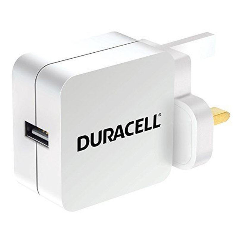 Duracell 2.4A USB Mains Charger - White