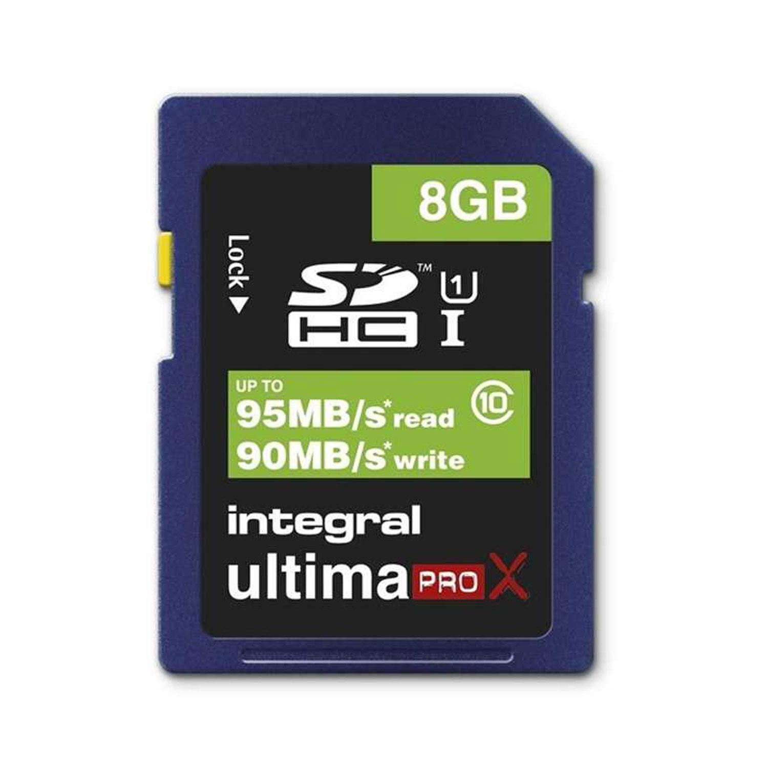 Integral 8GB Ultima ProX SD Card (SDHC) - 95MB/s