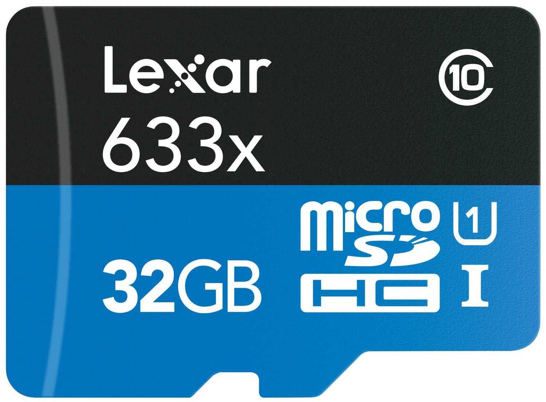 Lexar 32GB High-Performance Micro SD Card (SDHC) + Adapter - 45MB/s
