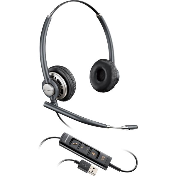 Plantronics EncorePro HW725 Over-the-Head Stereo USB Headset and Noise Cancelling Mic