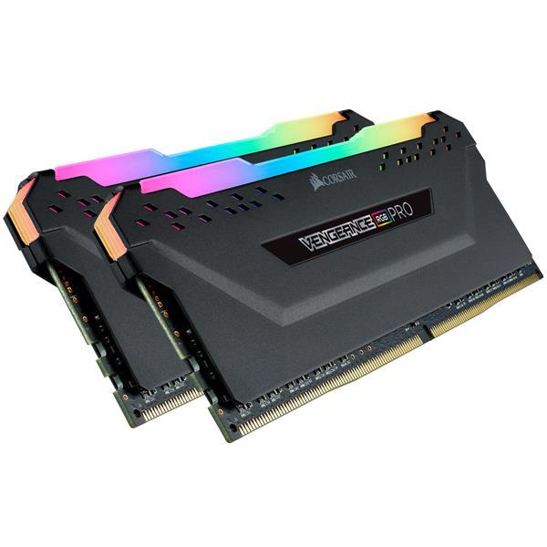Corsair VENGEANCE RGB PRO 32GB (2 x 16GB) Memory Kit 2666MHz DDR4 DRAM C16 (Black)