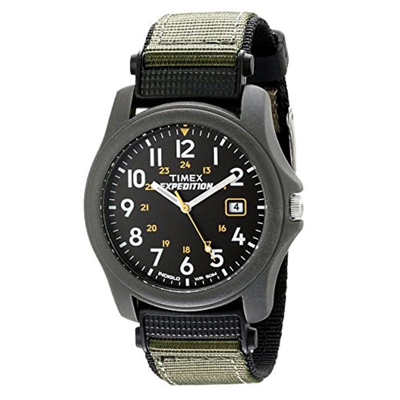 Timex Mens Expedition Camper Green Nylon Strap Watch (T42571)