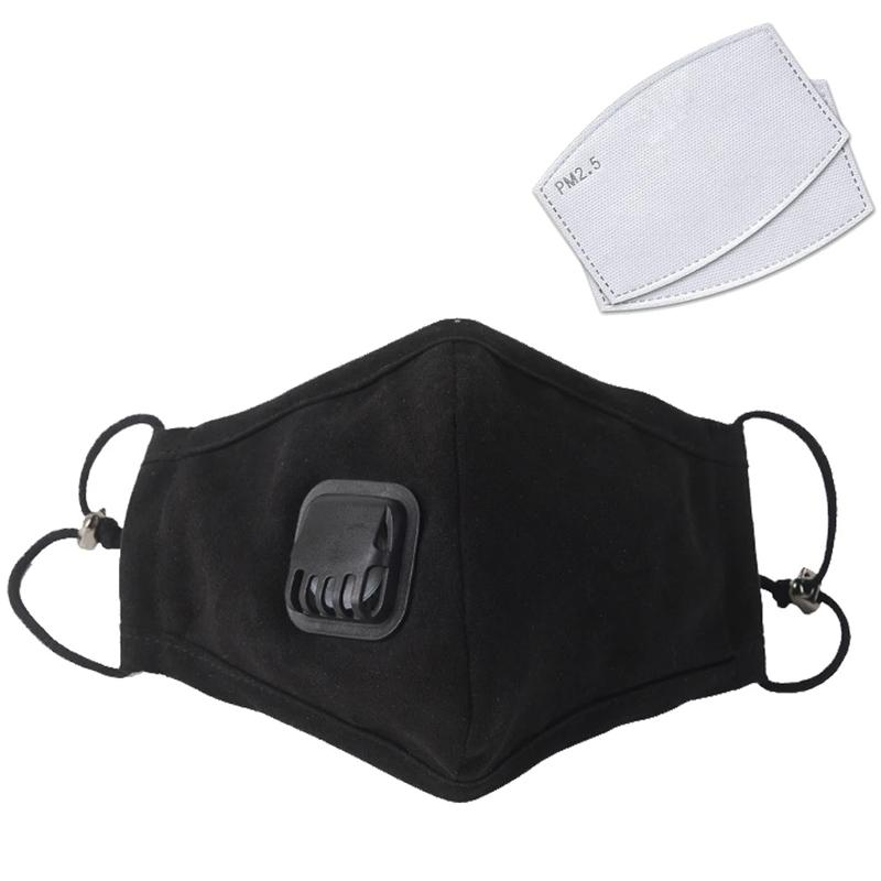 Washable KN95 Mask with PM2.5 Filter - Black
